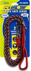 **NEW** Triple Safe 4ft Leash Red