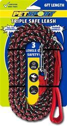 Triple Safe 6ft Leash Red