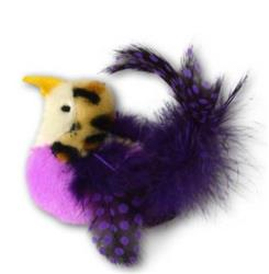OUR PET'S  PURPLE REALBIRD CATNIP SCENTED CAT TOY 6 PACK FOR $22.86 ($3.81 EA)