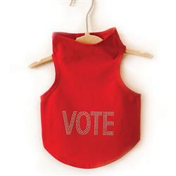 VOTE in Solid Silver Studs Tank by Daisy and Lucy