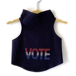 VOTE in Red, White, Blue Studs Tank by Daisy and Lucy