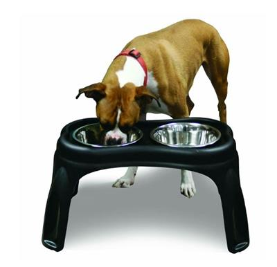 OUR PET'S RAISED FEEDER BONE 12 INCH ELEVATED WITH 2 BOWLS 4 PACK $76.24 ($19.06 EA)