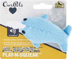 OUR PET'S PLAY N SQUEAK NARWHAL CATNIP CAT TOY 6 PACK 25.68 ($4.28 EA)