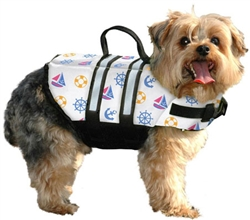 "Dog Life Jacket- ""Nautical"" Pet Preserver by Paws Aboard - Dog Life Vest"