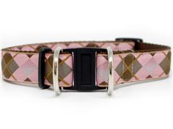 Argyle Dog Collar-Safety Buckle