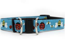 Lady Bugs and Bumble Bees Dog Collar-Safety Buckle