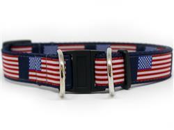Stars n Stripes Dog Collar-Safety Buckle