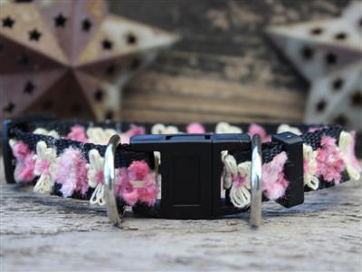 Coco Pink Dog Collar-Safety Buckle