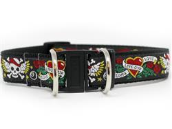 Wild One Black Dog Collar-Safety Buckle