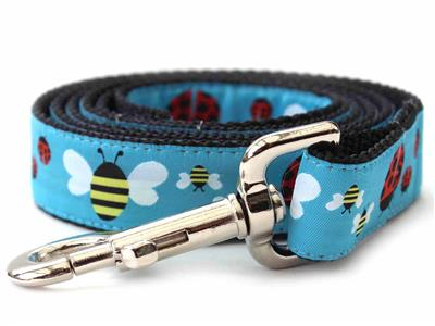 Lady Bugs and Bumble Bees Medium Width Martingale Dog Collar