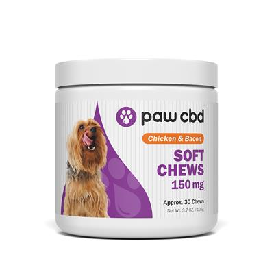 Paw CBD Dog Soft Chews, Chicken & Bacon - 30 Count
