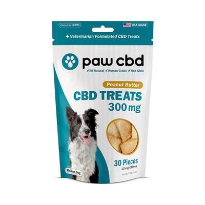 Paw CBD Dog Treats, Peanut Butter - 30 Count