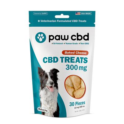 Paw CBD Dog Treats, Baked Cheese - 30 Count