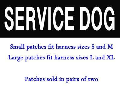 Interchangeable Patches for the Galveston Bay Service Dog Harness