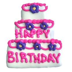 Birthday Cake Cookie Pink