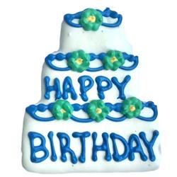 Birthday Cake Cookie Blue