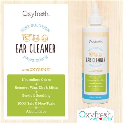 Oxyfresh Pet Ear Cleaner for Dogs & Cats- Alcohol Free & No Rinse - 1 Gallon Bottle