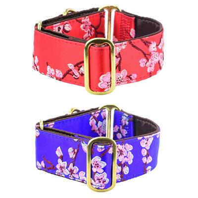 Sakura Silk Brocade Dog Collar