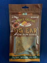 Single Pack Loaded Bacon & Cheddar Pig Ear Zip Lock Pegable bag