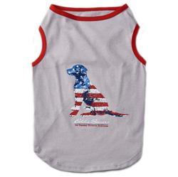 Eddie Bauer PET American Flag Tee Shirts in Gray