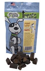 Peanut Butter Carob Hearts - 6oz. Bags