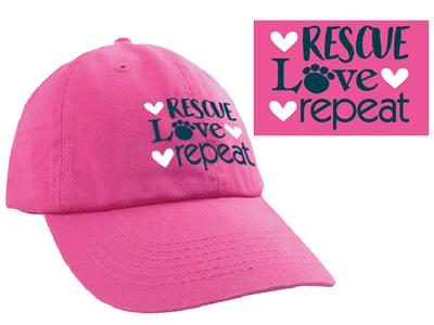 Rescue Love Repeat -  Ball Cap
