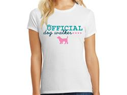 Official Dog Walker - Ladies T-Shirt
