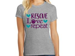 Rescue Love Repeat- Ladies T-Shirt