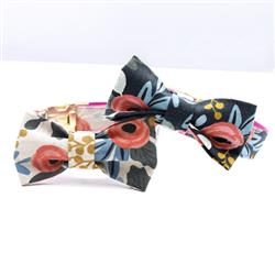 Rifle Paper Co. Patterned Bow Tie Dog Collar Accessory