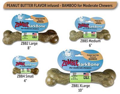 BarkBone Zombie Bamboo & Peanut Butter
