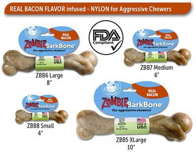 BarkBone Zombie Bacon Nylon Chews