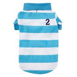 Casual Canine Blue Striped Polo Shirt