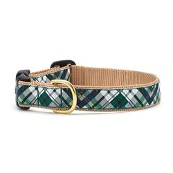 Gordon Plaid Dog Collection on Tan Webbing