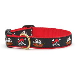 Pirate Dog Collection on Red Webbing