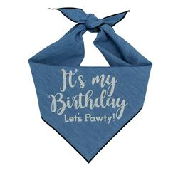 Denim Birthday Dog Bandana |  BUY 10 GET 1 FREE