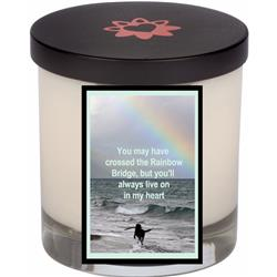 Rainbow Bridge Memorial Candle With Lid (12.0 oz)
