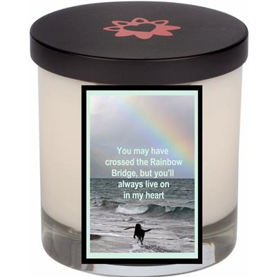 Rainbow Bridge Memorial Candle With Lid (12.0 oz)