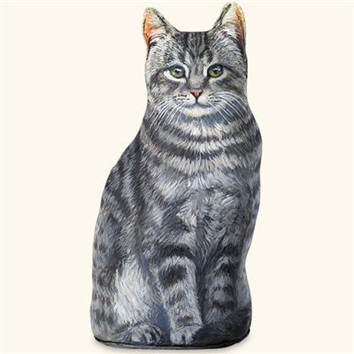 Smokey Cat Decorative Doorstop | Accent Decor | Made in the USA