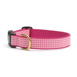 Pink Gingham Dog Leashes and Collars by Up Country