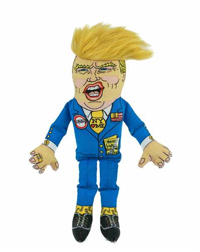 "Even Smaller Classic Donald Dog Toy - 8"" Presidential Parody"