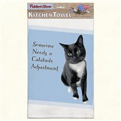 Catatude Funny Cat Kitchen Towel