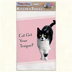 Cat Tongue Funny Cat Kitchen Towel