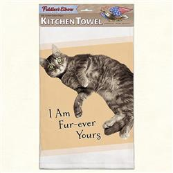 Fur-Ever Yours Funny Cat Kitchen Towel