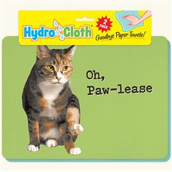 Hydro Cloth Funny Cat Dishcloths | Set of 2 | Eco-Friendly Dish Cloths | Paper Towel Replacements (Oh, Paw-Lease)