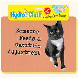 Hydro Cloth Funny Cat Dishcloths | Set of 2 | Eco-Friendly Dish Cloths | Paper Towel Replacements (Catatude)