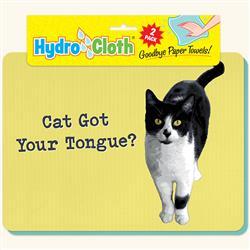 Hydro Cloth Funny Cat Dishcloths | Set of 2 | Eco-Friendly Dish Cloths | Paper Towel Replacements (Cat Tongue)