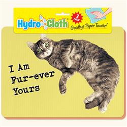 Hydro Cloth Funny Cat Dishcloths | Set of 2 | Eco-Friendly Dish Cloths | Paper Towel Replacements (Fur-ever Yours)