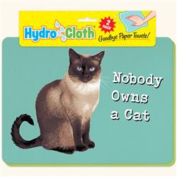 Hydro Cloth Funny Cat Dishcloths | Set of 2 | Eco-Friendly Dish Cloths | Paper Towel Replacements (Nobody Owns a Cat)