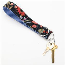 Noir Rifle Paper Co Wristlet Key Fob