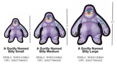 A Gorilly Named Billy Medium Dog Toy -  Wild Woodies